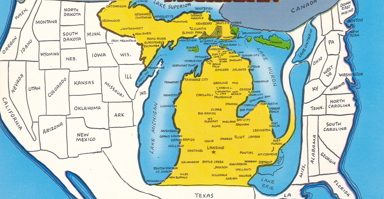 6 Maps Of Michigan That Are Just Too Perfect And Hilarious