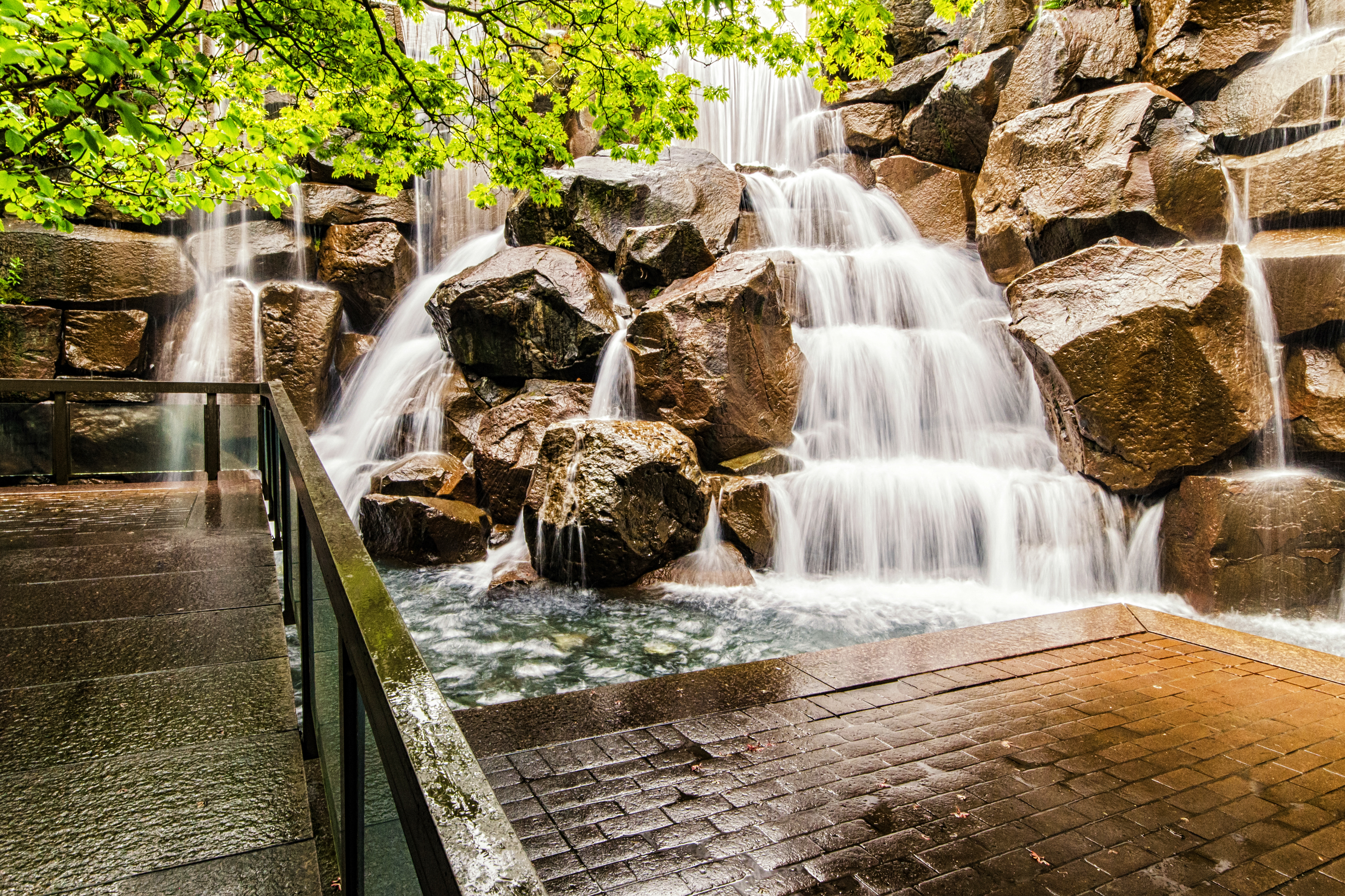 The Ups Waterfall Garden Park In Seattle