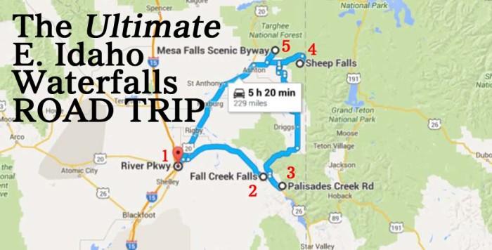 mesa falls idaho map The Ultimate Eastern Idaho Waterfalls Road Trip mesa falls idaho map