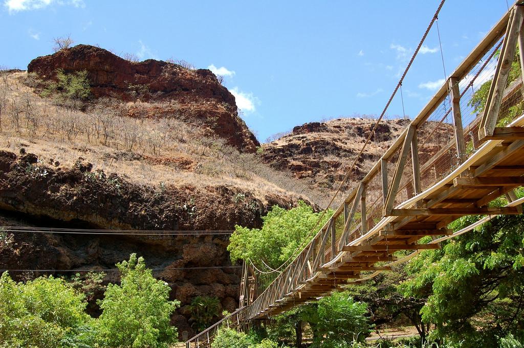 The Beautiful And Terrifying Waimea Swinging Bridge In Hawaii
