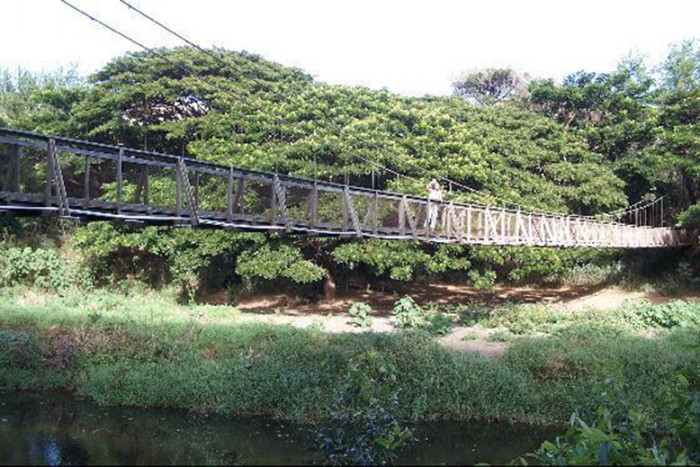 The Beautiful And Terrifying Waimea Swinging Bridge In Hawaii