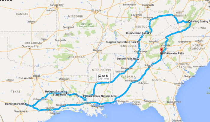 Incredible Southern United States Waterfall Road Trip on