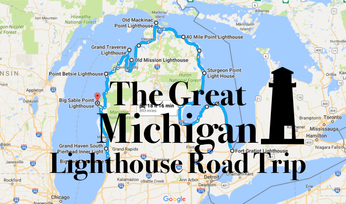 lake michigan lighthouse map This Lighthouse Road Trip In Michigan Features 10 Stunning Lighthouses lake michigan lighthouse map