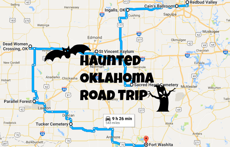 Take This Haunted Road Trip To The Most Haunted Places In ... Sapulpa Oklahoma Road Map on talihina oklahoma road map, osage county oklahoma road map, rogers county oklahoma road map, tulsa oklahoma road map, norman oklahoma road map,