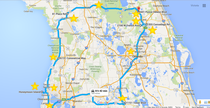 Map Of Central Florida Roads.7 Unforgettable Life Changing Road Trips Through Florida