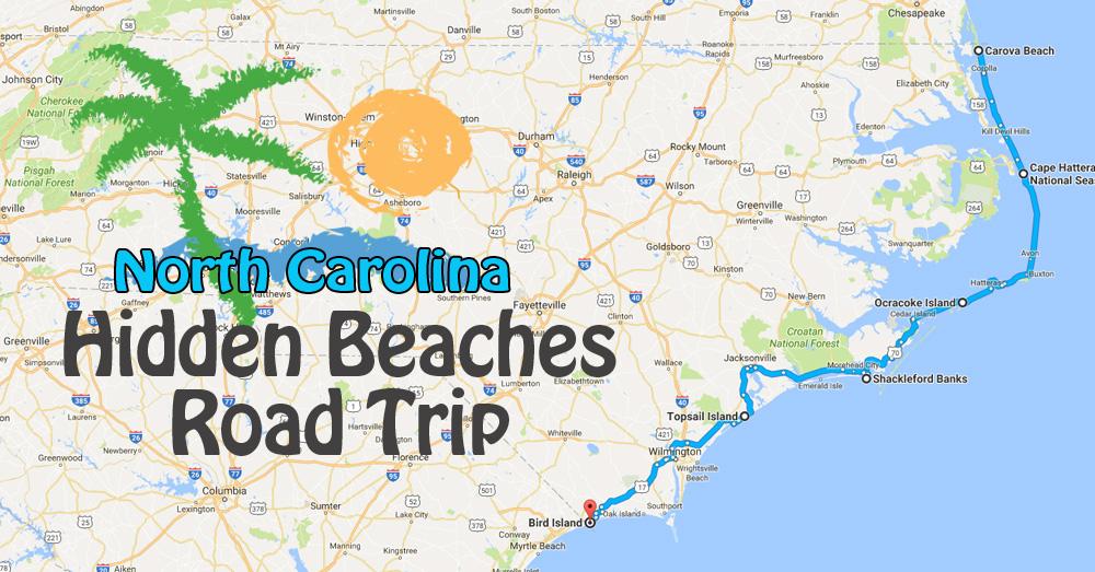 Hidden Beaches Road Trip To The Best Beaches In North Carolina on topsail island nc beach, map of topsail island nc, map of topsail island north carolina beaches, map of topsail nc area,