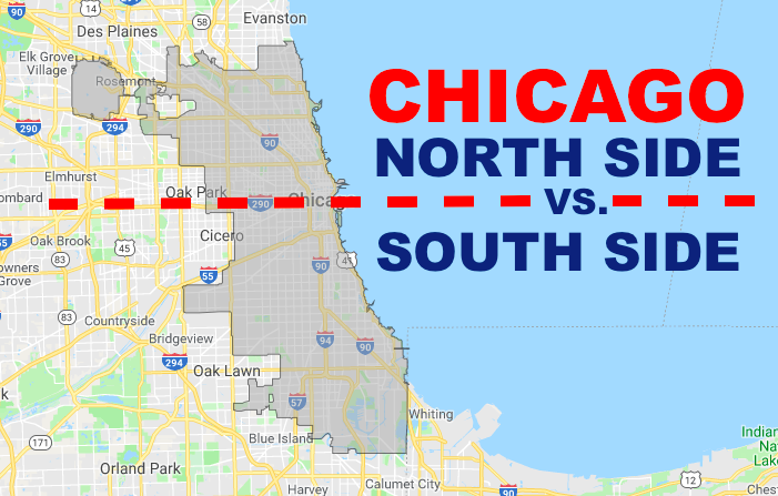 South Side Chicago Map Differences Between The North Side Vs. South Side In Chicago