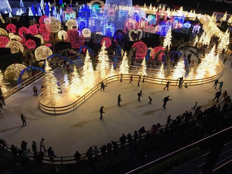 Ice Skating Light Trail At Enchant Christmas In Texas