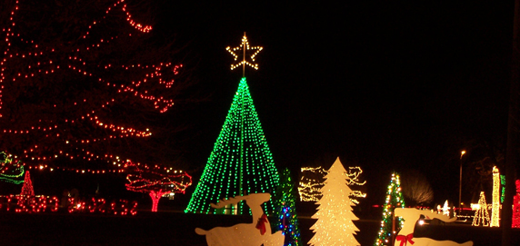 Christmas In The Park.Christmas In The Park In Elk City Oklahoma Is Home To