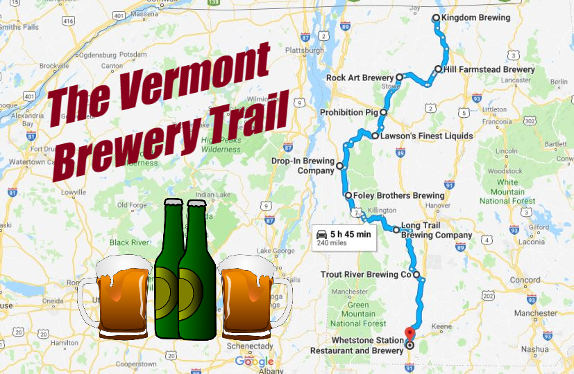 breweries in vermont map Take The Vermont Brewery Trail For A Weekend You Ll Never Forget breweries in vermont map