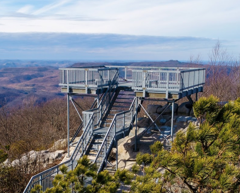 The View From The Top Of Birch Knob Tower In Virginia Is