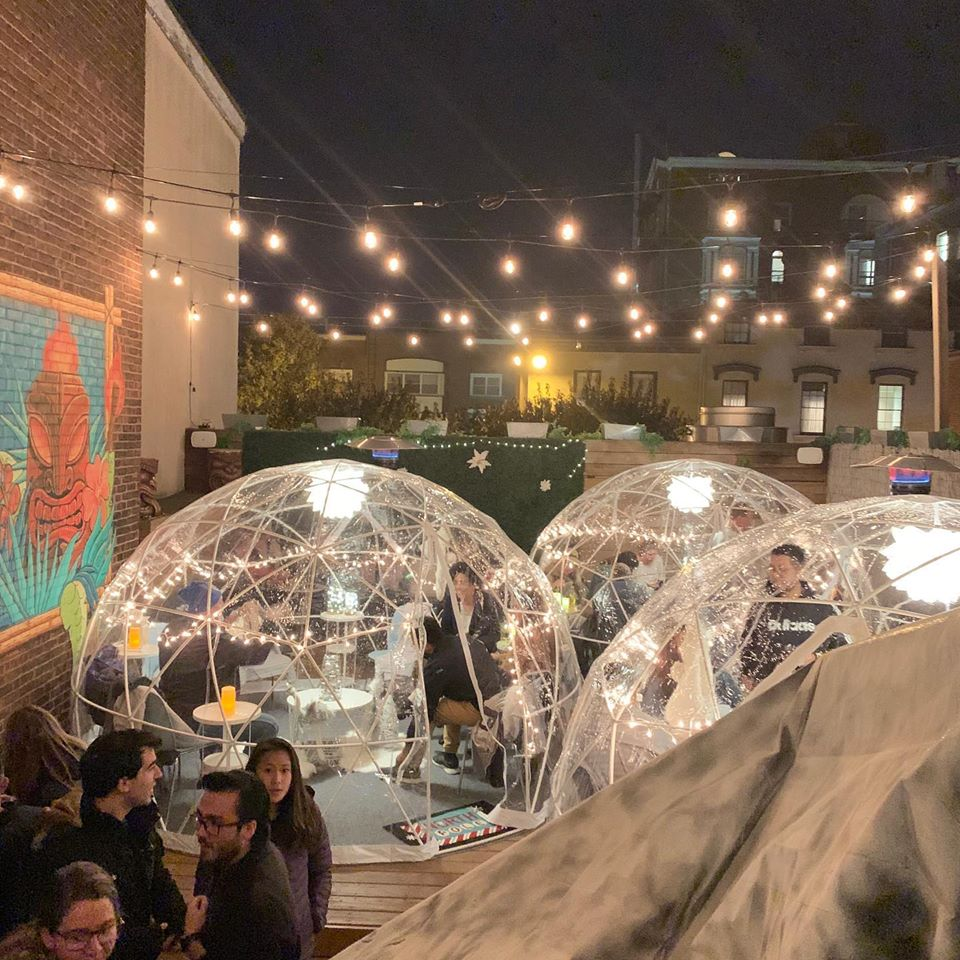Elm City Social Has The Best Rooftop Igloo Bar In Connecticut