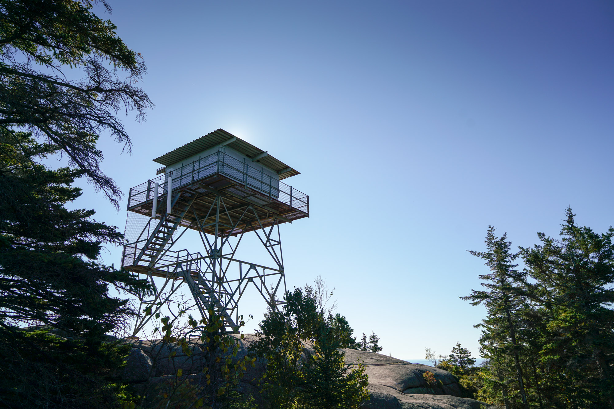 Hike To A Observation Tower With Stunning Panoramic Views At Acadia National Park In Maine