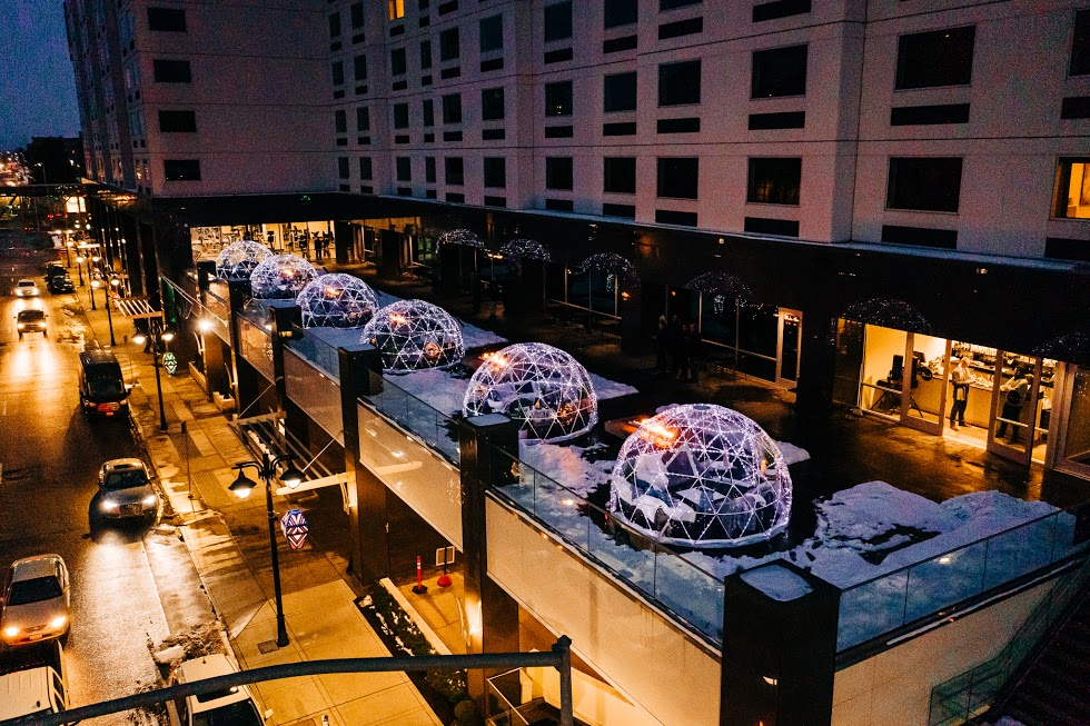 Spend A Clear Winter Night Under The Stars Inside The Grand Terrace Igloos In Washington