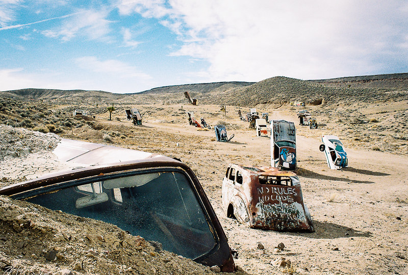 The Bizarre Car Forest In Nevada Will Confuse You In All The Right Ways