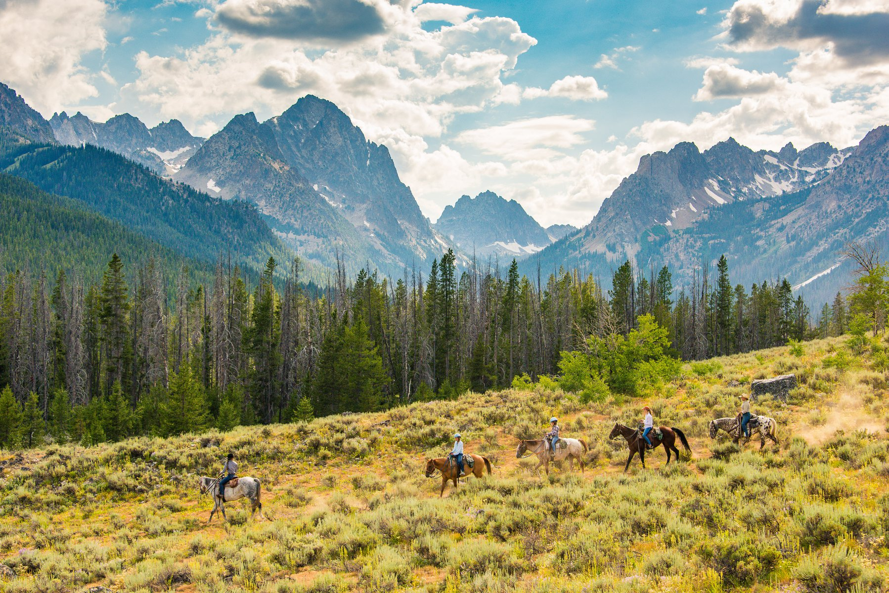 Ride Through Idaho's Sawtooth Wilderness With Mystic Saddle Ranch For An Idyllic Family Adventure