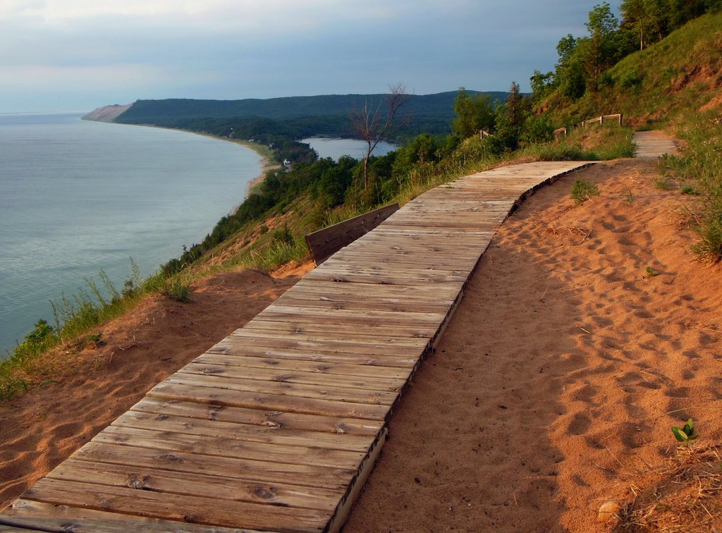 Empire Bluff Trail Is A Boardwalk Trail In Michigan That Leads To Incredibly Scenic Views