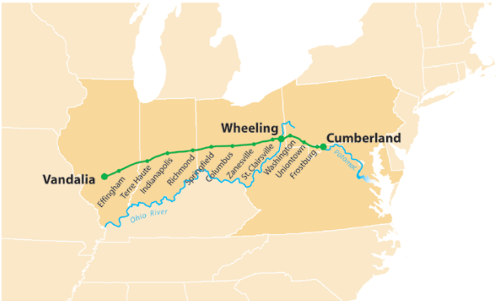 One Of The Oldest Roads In America, The National Road, Began Right Here In Maryland