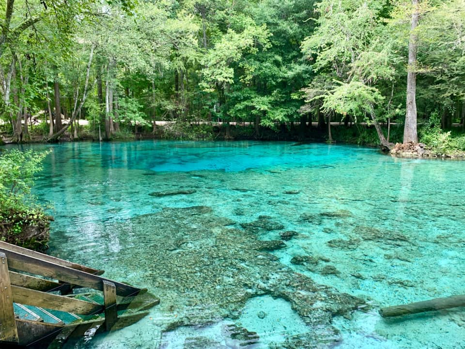 The Water Is A Brilliant Blue At Ginnie Springs, A Refreshing Roadside Stop In Florida