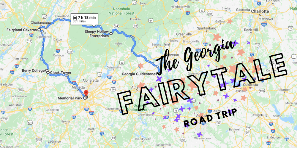 The Fairytale Road Trip That'll Lead You To Some Of Georgia's Most Magical Places