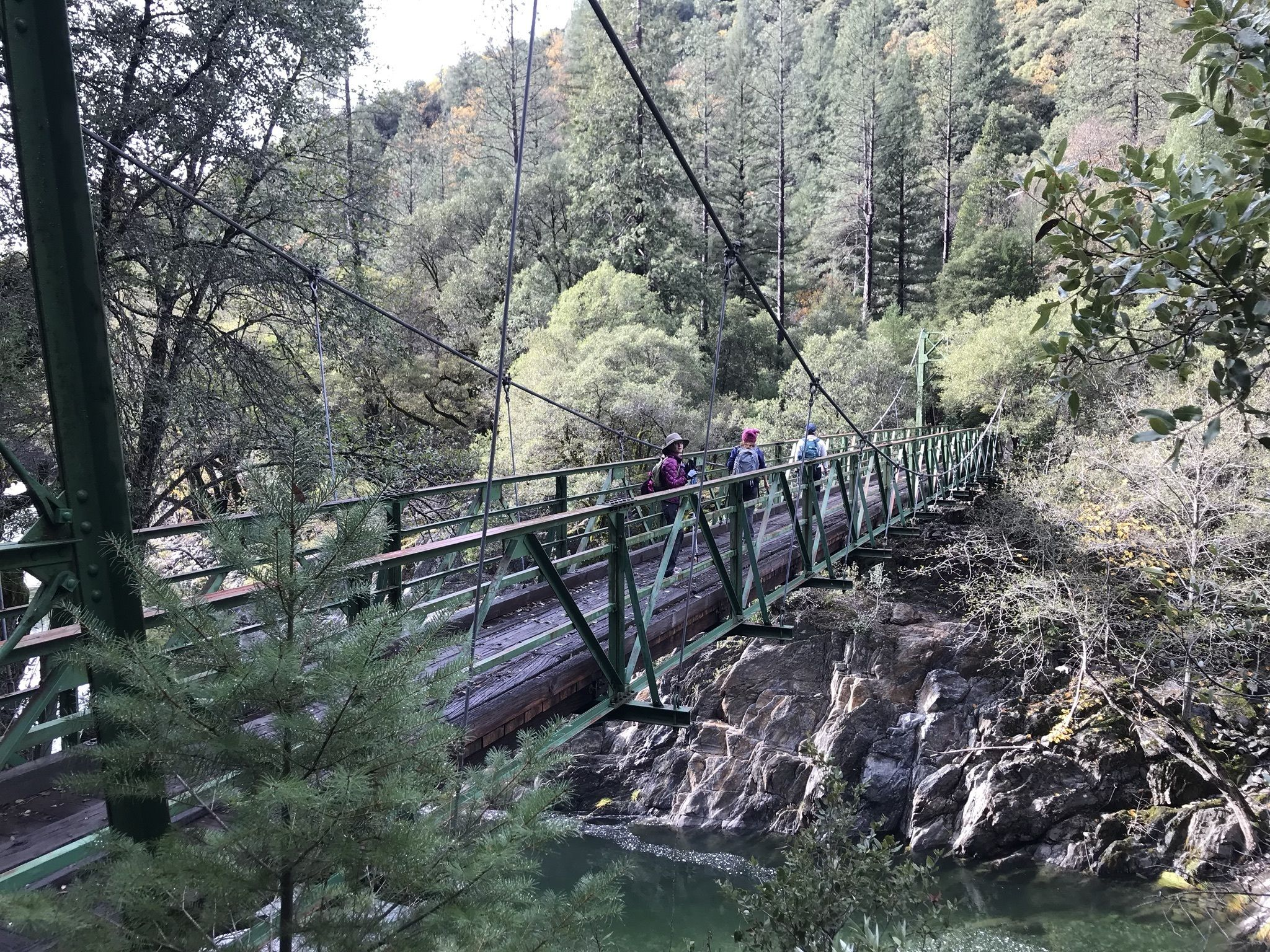 The Suspension Footbridge On The Euchre Bar Trail In Northern California Will Lead You To A Woodland Paradise