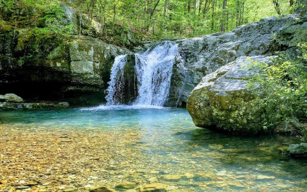Visit Falls Creek Falls, Arkansas' Beautifully Blue Waterfall