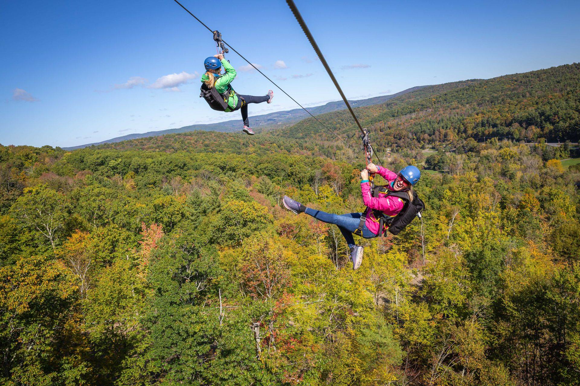 The Longest Zipline In America Is Now Up And Running At New York's Catamount Mountain Resort