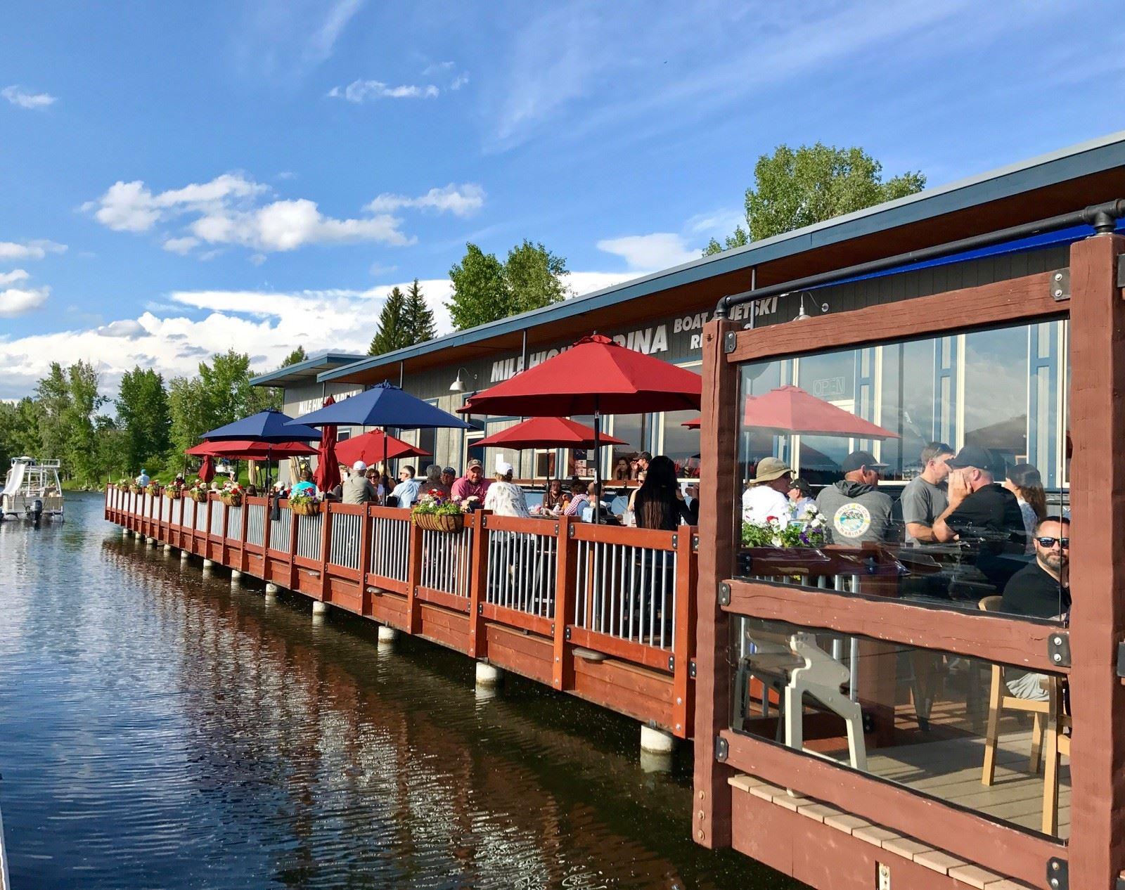 Grab Some Food And Rent A Kayak At Mile High Marina In Idaho