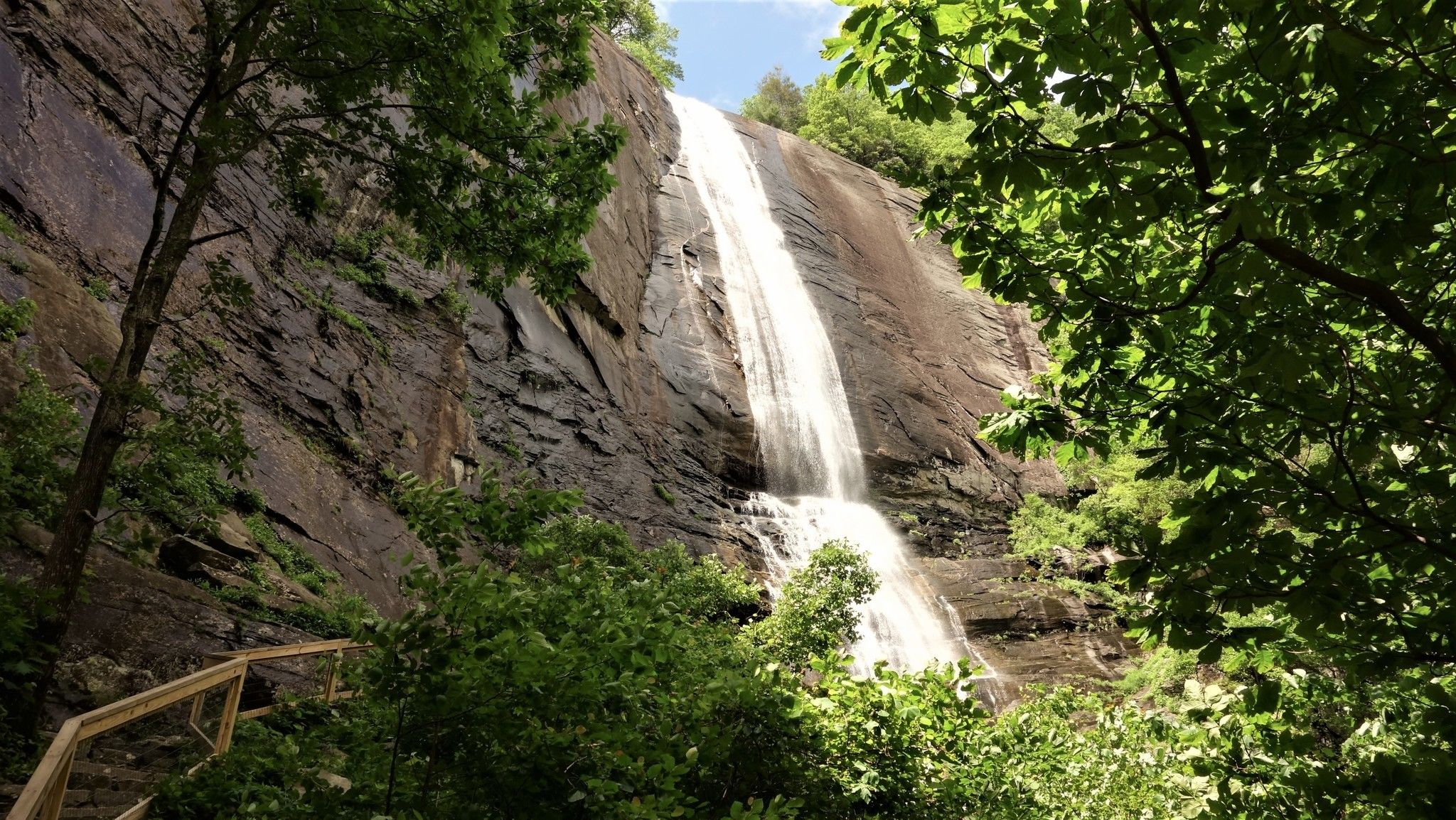 The Short And Sweet Hickory Nut Falls Trail Leads To The Second Tallest Waterfall In North Carolina