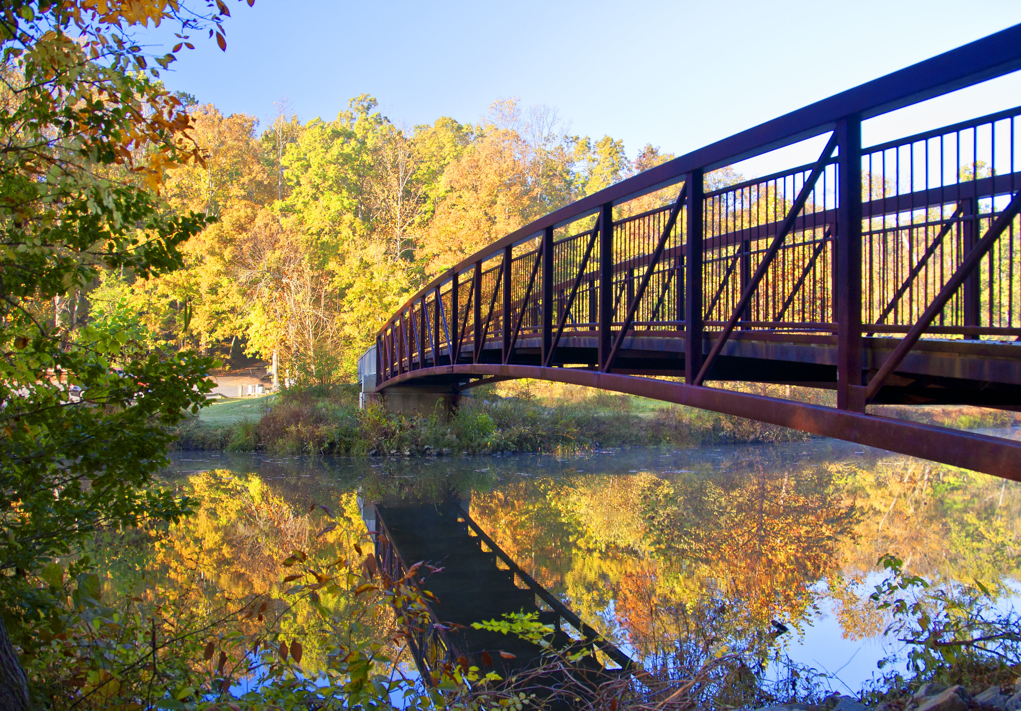 Beaver Lake Trail In Virginia Is A 2-Mile Loop Bursting With Fall Colors