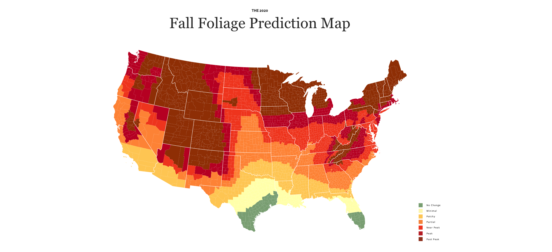 Find Out When The Leaves Will Change Color In Kentucky With This Interactive Fall Foliage Map