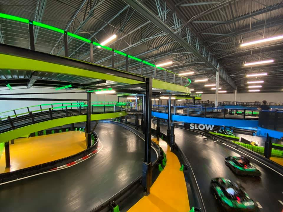 Zoom Around A Three-Story Go-Kart Track At Andretti Indoor Karting Games In Texas