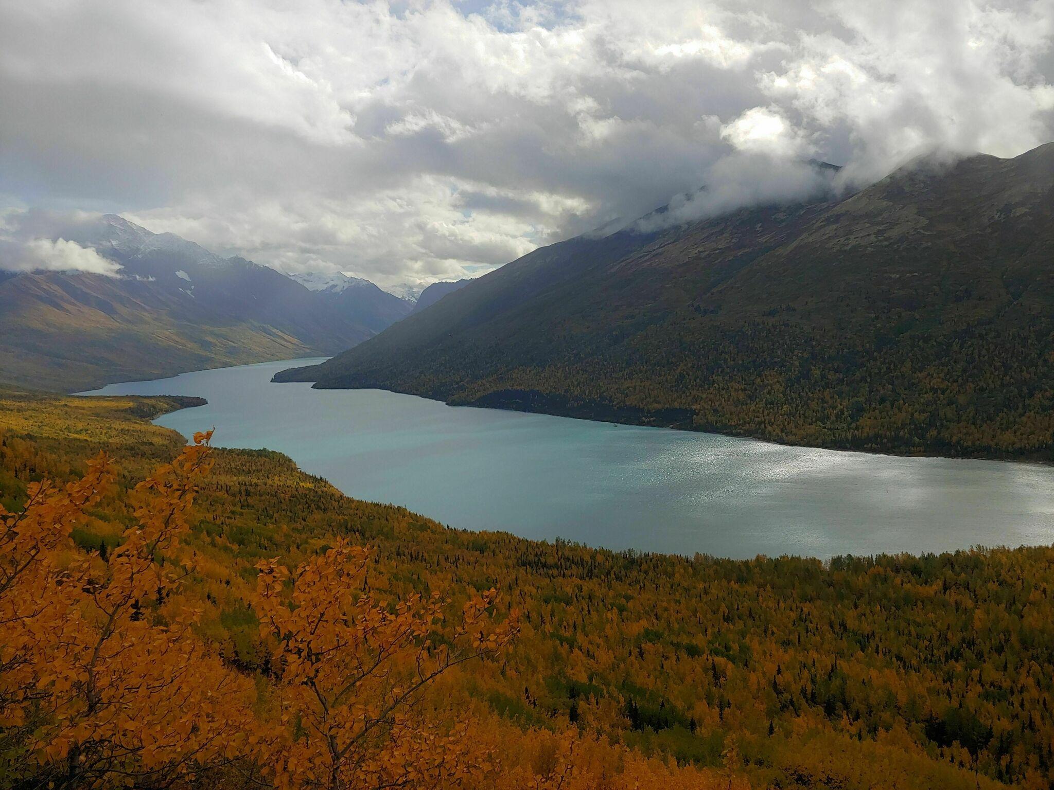 Hike High Above Alaska's Eklutna Lake On The Twin Peaks Trail Before The Snow Flies