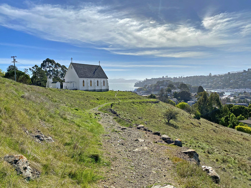 The Old St. Hilary's Chapel Is A Beautiful Landmark Located On A Wildflower Preserve In Northern California