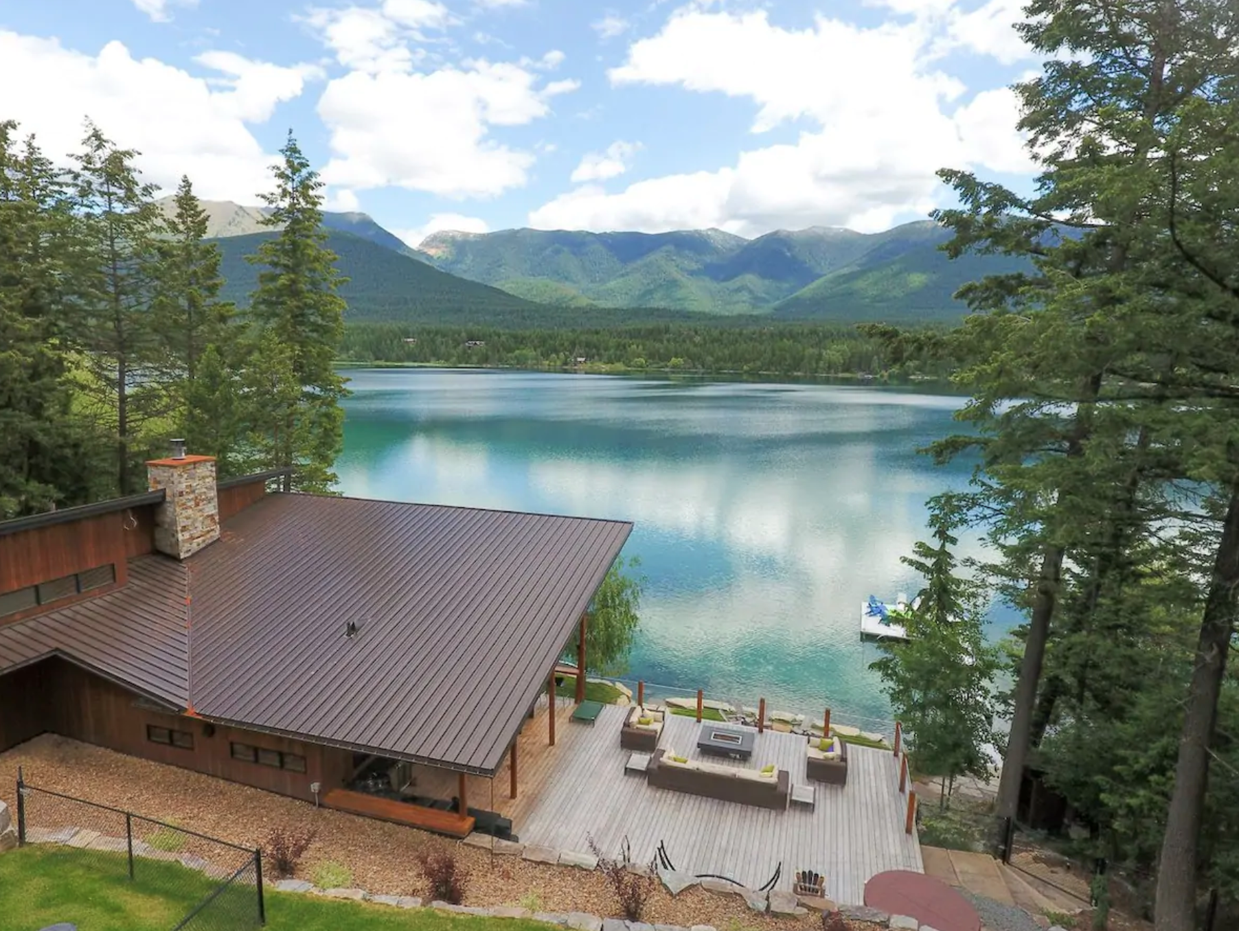 Forget The Resorts, Rent This Charming Waterfront Chalet In Montana Instead